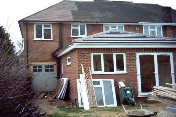 This is during the build of the rear kitchen/dining room extension