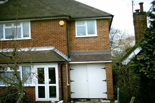 Earley, Reading - Double front extension and rear single storey extension.