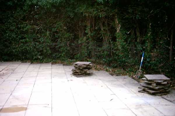 After the extension was built, the client then asked us to patio over an area of the garden.
