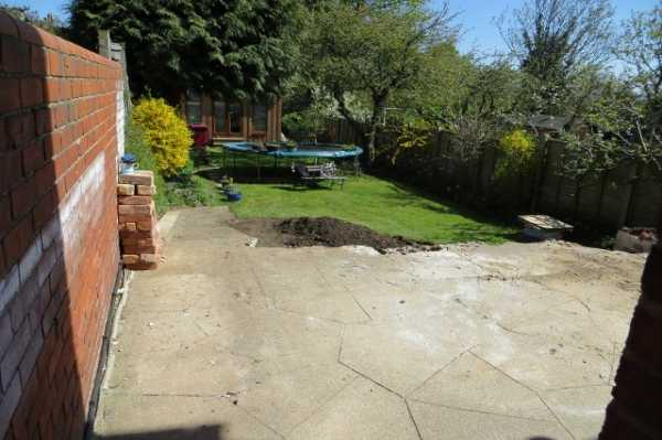 The client also decided to replacethe existing patio